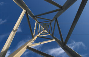 Composition of an electrin pylon called Infinite perspective