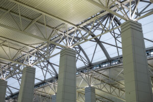 Modern Architectural Skylight Structure Details from Indoor a Building